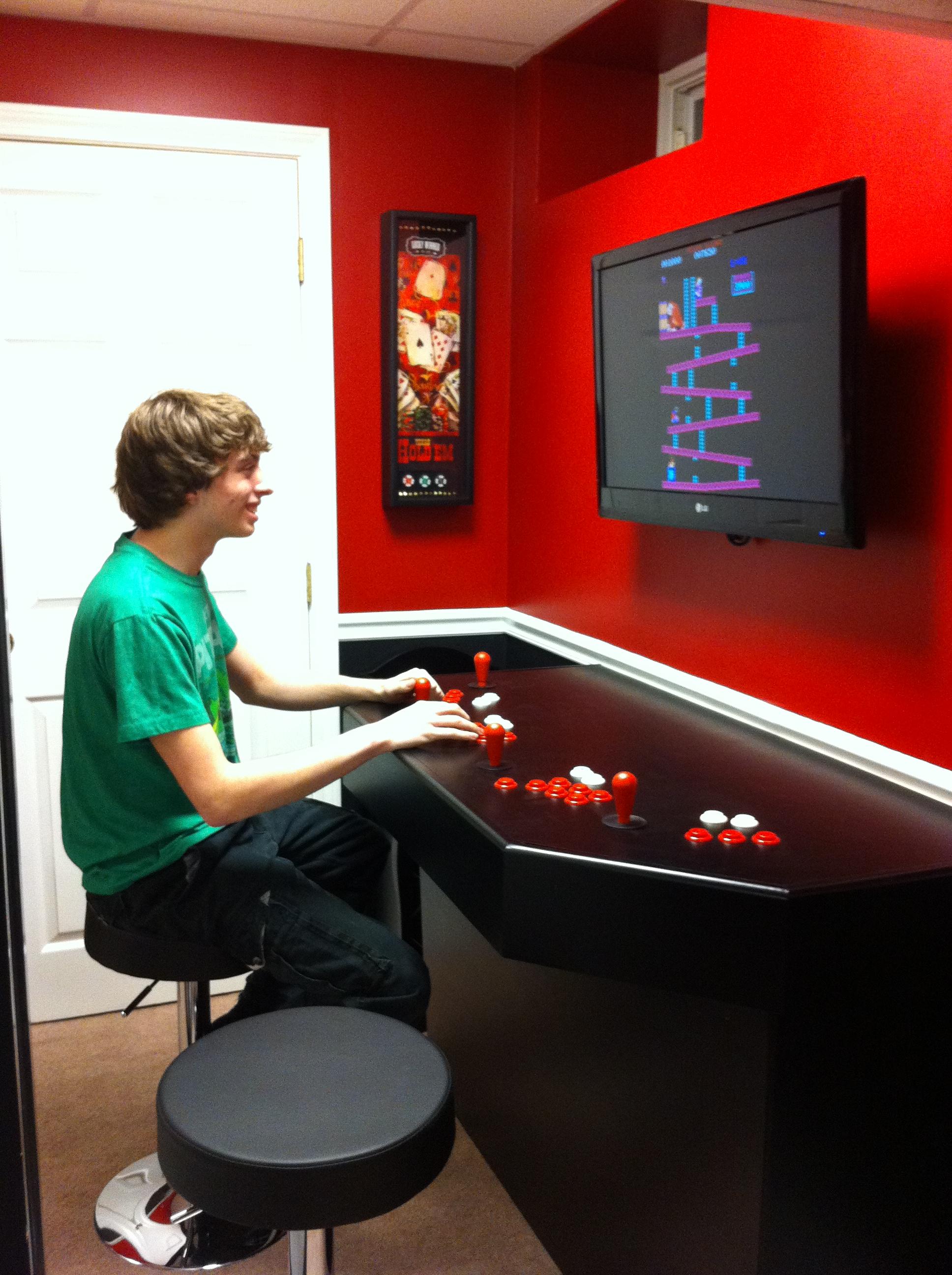 4 Player Arcade Cabinet Kit Mame Pedestal Cabinet Cabinets Matttroy