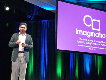 Imagination Technologies President Krishna Yarlagadda at CDNLive 2014
