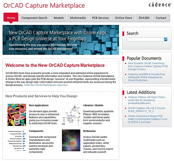 OrCAD Capture Marketplace - An Interactive, Application-Driven Approach to EDA - Industry Insights - Cadence Blogs - Cadence Com
