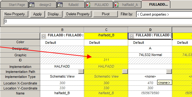 Image of Property Editor showing a part in a flat/simple-hierarchical design