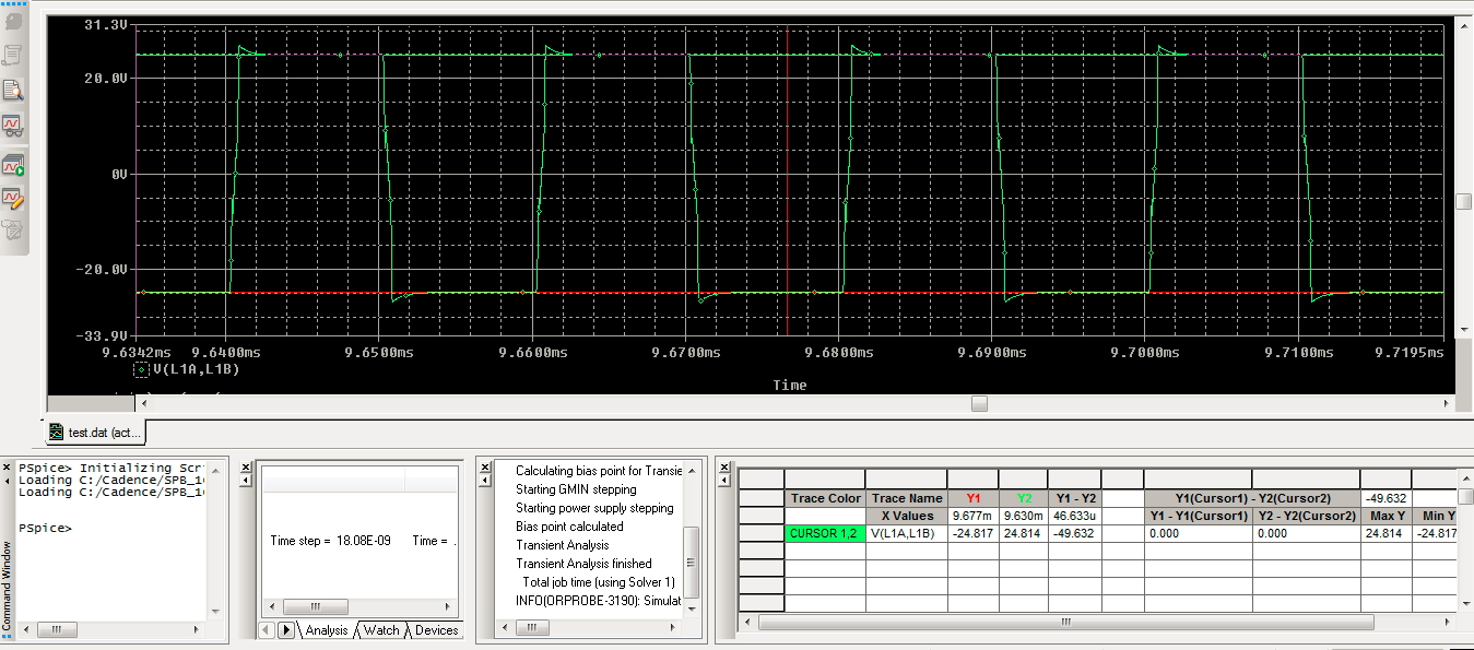 Customer Support Recommendeddesign And Simulation Of Full Bridge Dc Transformer Software For Analysis Rectifier Circuit Figure 4 Voltage Across Primary Coils L1a L1b