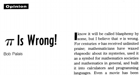 pi is wrong