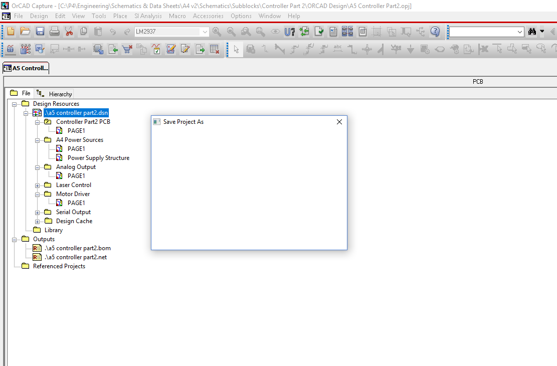 Orcad Capture - save project as not working - PCB Design ... on