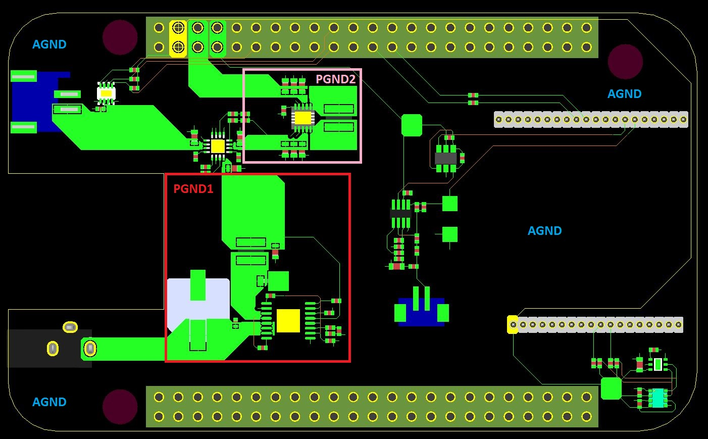 Analog Amp Power Ground Connections Pcb Design Cadence
