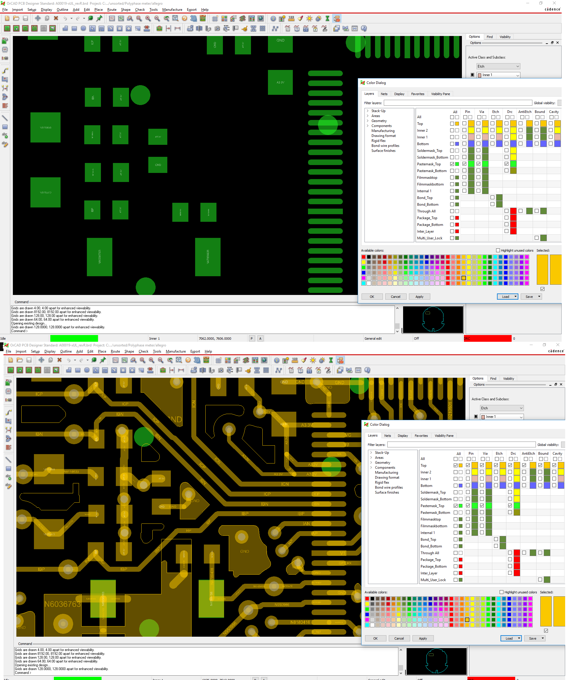 PCB Editor layer transparency not working right - PCB Design ...