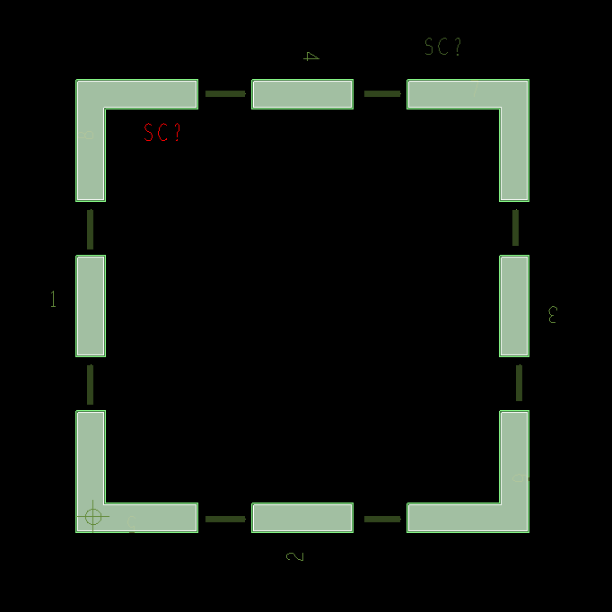 correct RF shield footprint, with parts inside - PCB Design