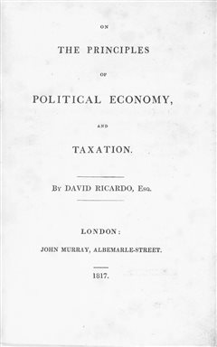 david ricardo principles of political economy and taxation