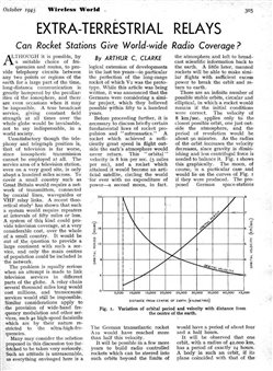 clarke article geostationary satellite