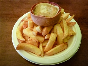 scotch pie and chips