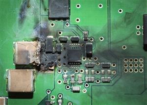 burned PCB