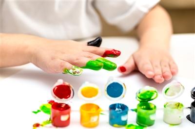 Child Fingerpainting
