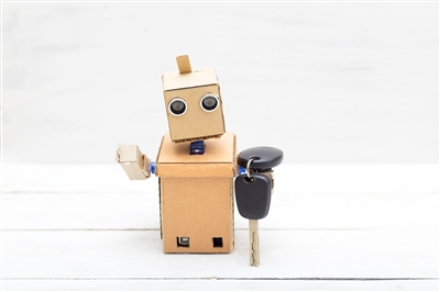 Robot with car keys