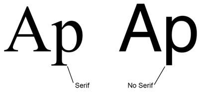 serifs and sans serifs