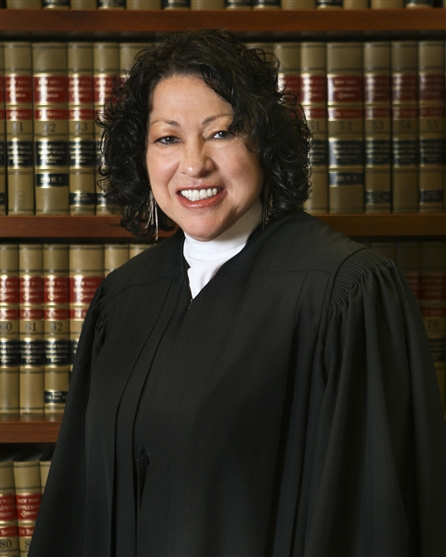 Supreme Court Justice Sonia Soto-Mayor, the first Hispanic American to serve as a Supreme Court justice