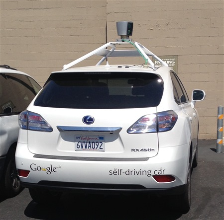 google autonomous car in los altos