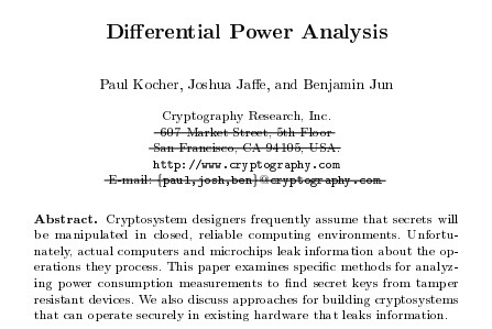 differential power analysis paper