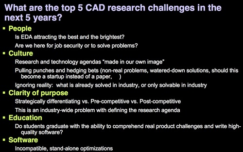Slide: Top 5 CAD Research Challenges