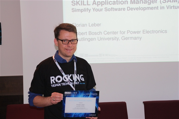 Florian Leber RBZ Best Paper Award CDNLive