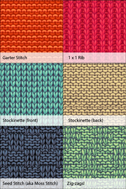 Knit Stitch Samples