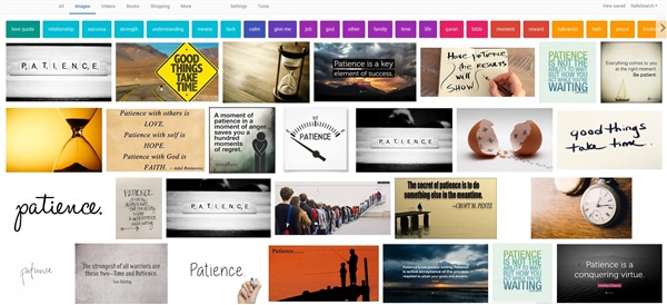 Image search on patience