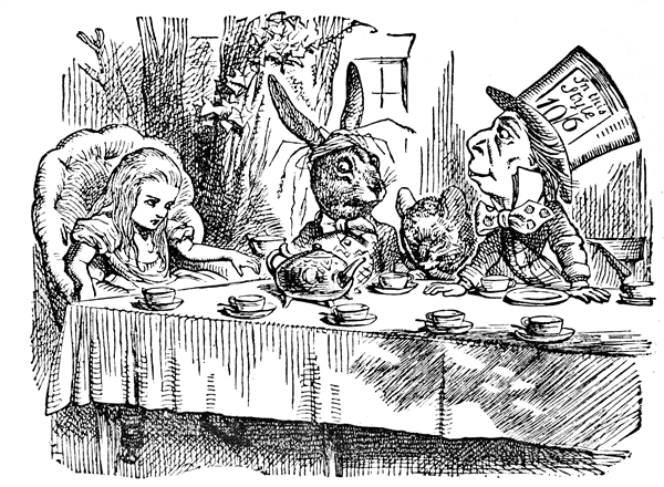 Original illustration of A Mad Tea Party