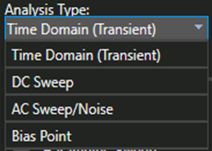 Analysis Type Options