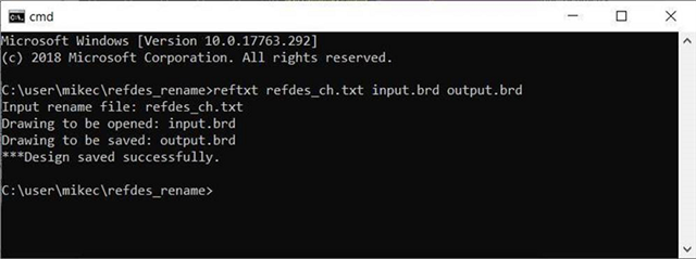 reftxt batch command output