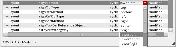 Cdsenv Editor Modifying Values