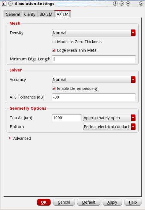 AXIEM_simulation_settings