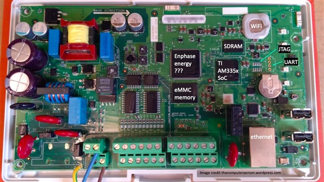 enphase circuit board showing components