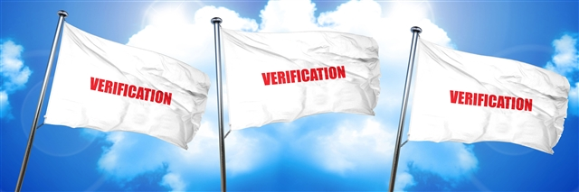 Flags with Verification and clouds