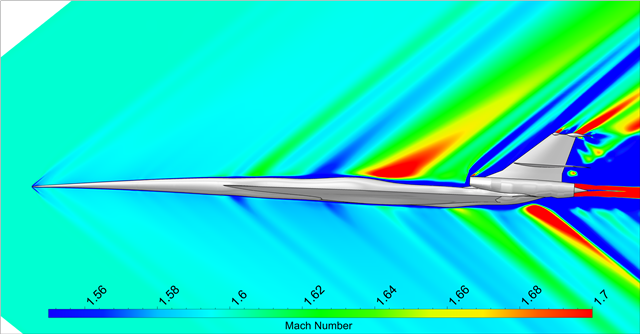 Sonic boom prediction of supersonic aircraft with Cadence CFD