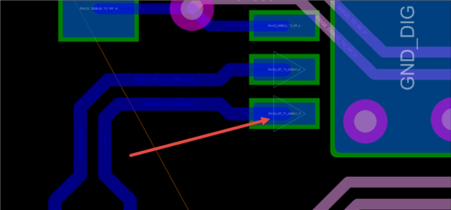 Triangle Symbol on Differential Pair Signals - PCB Design