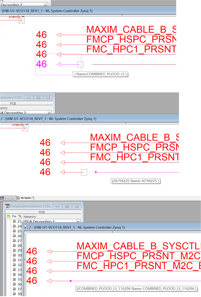 what is making the suffix number of the name of the wire? - PCB
