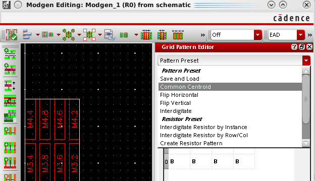 ModGen and Common Centroid Layout - Mixed-Signal Design