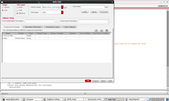 import spice model to one of the commercial OTA ICS - Mixed