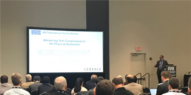 Vivek Chickermane presenting technical paper on Modus 2D Elastic Compression