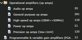 Operational amplifiers (op amps) models