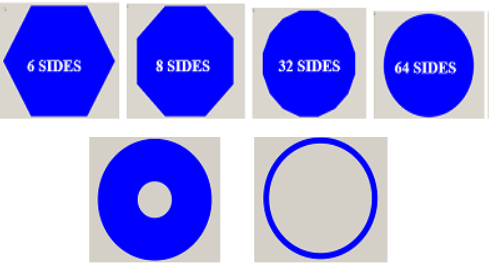 Graphic of padstack shapes
