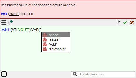 Using Design Variables in Expression Builder