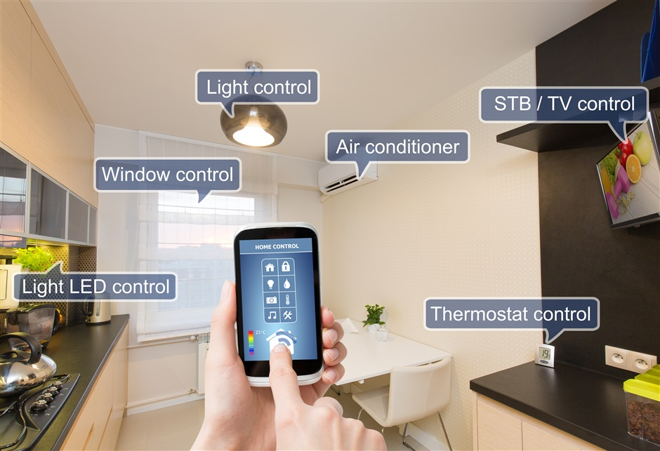 Photograph showing a variety of Bluetooth Smart Home Devices