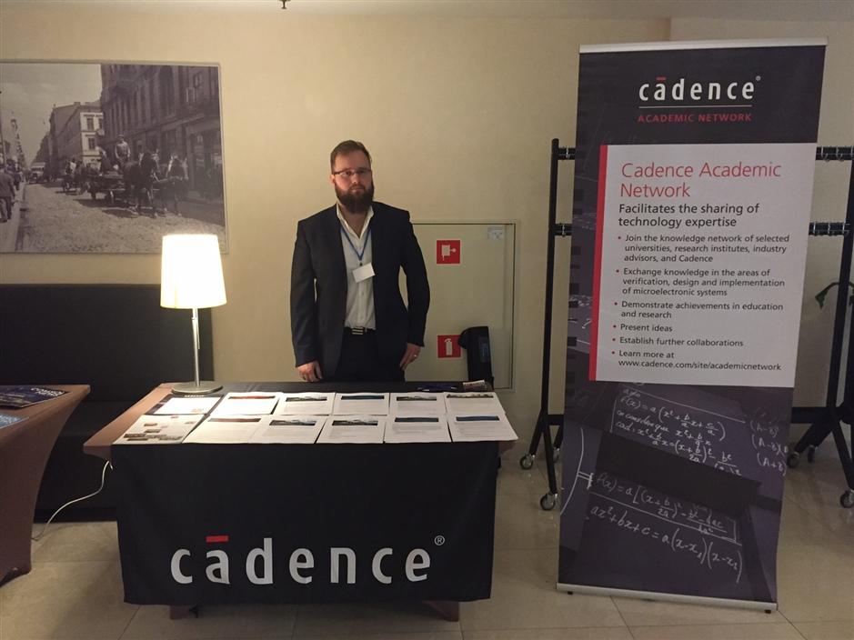 Lukasz at MIXDES at Cadence booth