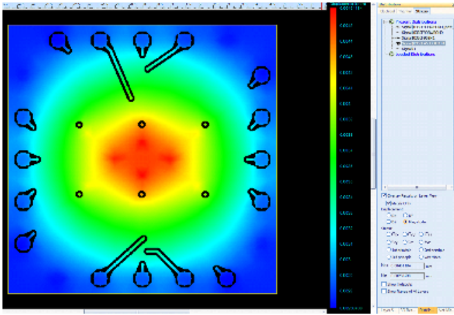 Sigrity PowerDC IR Drop Analysis heatmap
