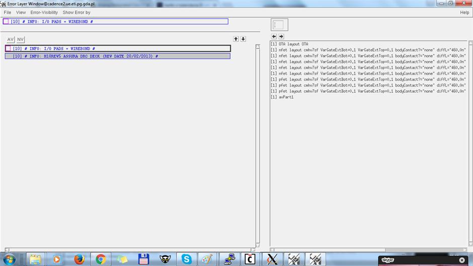 Assura DRC/LVS error - Custom IC Design - Cadence Technology